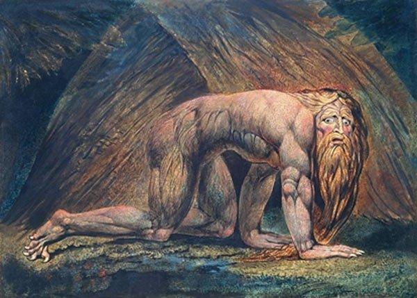 'La locura de Nabucodonosor' de William Blake: ¿El libro de Daniel confunde a Nabucodonosor II con Nabonido?