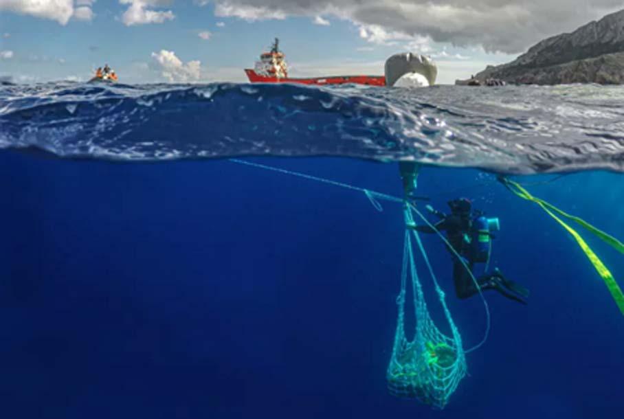 Nuevos hallazgos realizados en la última búsqueda de naufragio de Antikythera. Fuente: Ministerio de Cultura griego.