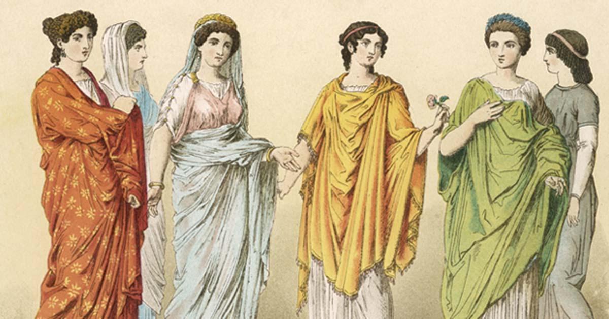 Damas Patrias con Esclavo Plebeyo al fondo.