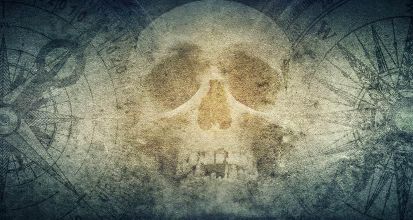 Esqueleto pirata.