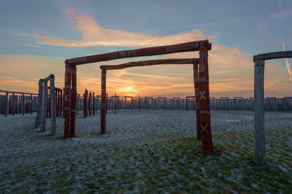 El Stonehenge alemán al atardecer en Pömmelte. Fuente: Mattis Kaminer / Adobe Stock