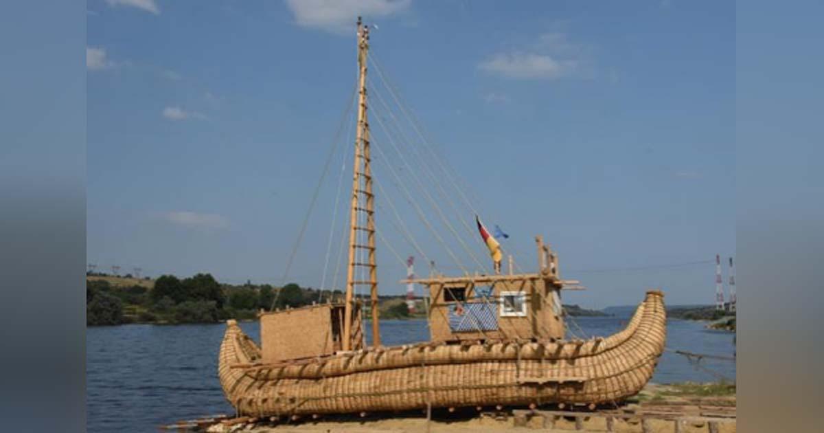 El Abora IV, basado en el antiguo barco de caña egipcio. Fuente: Mission ABORA