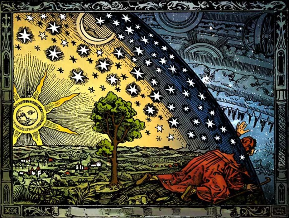 Grabado de Camille Flammarion, 1888 (CC by SA 3.0)