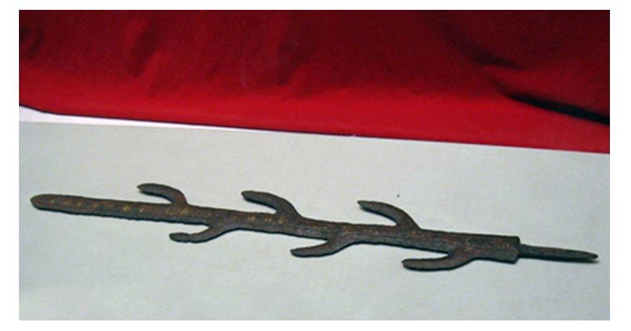 Esta réplica del Chiljido está expuesta en el Monumento a los Caídos de Seúl, Corea del Sur. La espada es importante tanto para la historia de Corea como para la de Japón. Fotografía por: Tortfeasor 2006.