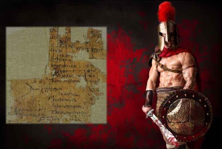 Según la nómina encontrada en Masada (recuadro), el soldado romano Cayo Messius literalmente derramó sangre por nada.