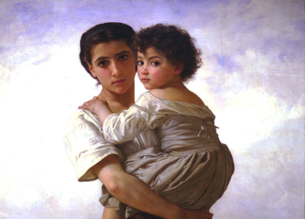 'Young Gypsies' (1879) de William-Adolphe Bouguereau. La familia es fundamental para la supervivencia de la cultura del pueblo romaní.