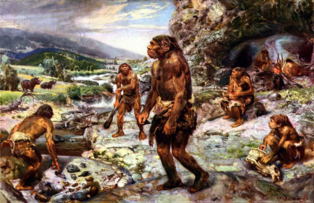 Hombre prehistórico.