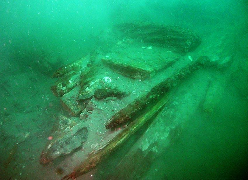 Se cree que el frente del naufragio encontrado en el lecho marino de una isla japonesa perteneció a una frustrada invasión mongola del año1281