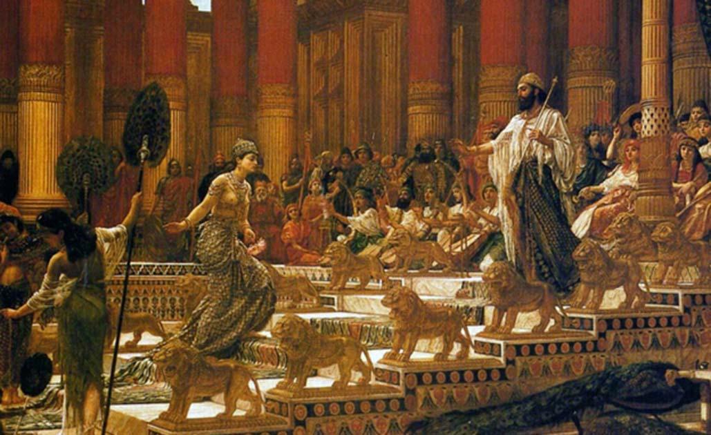 La visita de la reina de Saba al rey Salomón.