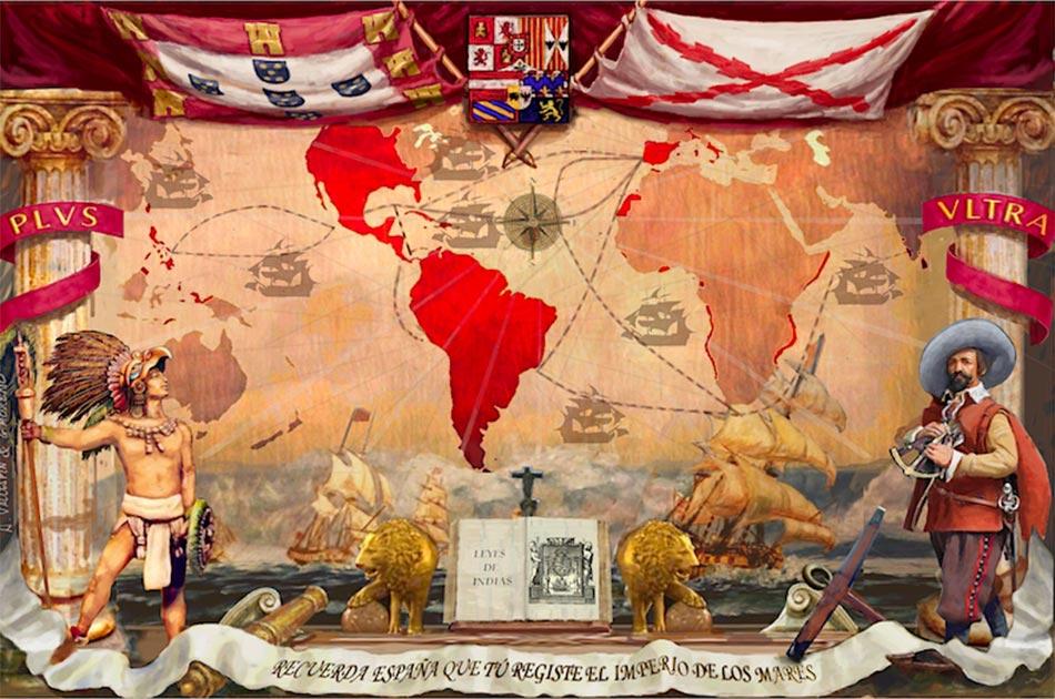 El imperio español y el nuevo mundo. Fuente: CanBea87 / CC BY-SA 4.0.