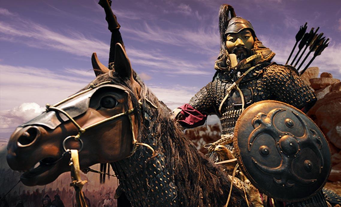 Una recreación de la caballería de Mongolia, de Genghis Khan: The Exhibition (CC BY-SA 2.0)