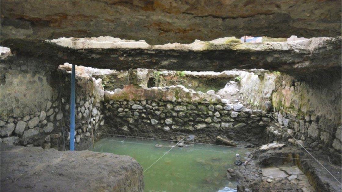 El temazcal, sudadera, encontrado en La Merced, Ciudad de México, México. Fuente: INAH