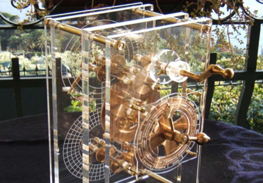 modelo moderno del mecanismo de Anticitera (CC BY-SA 3.0 )