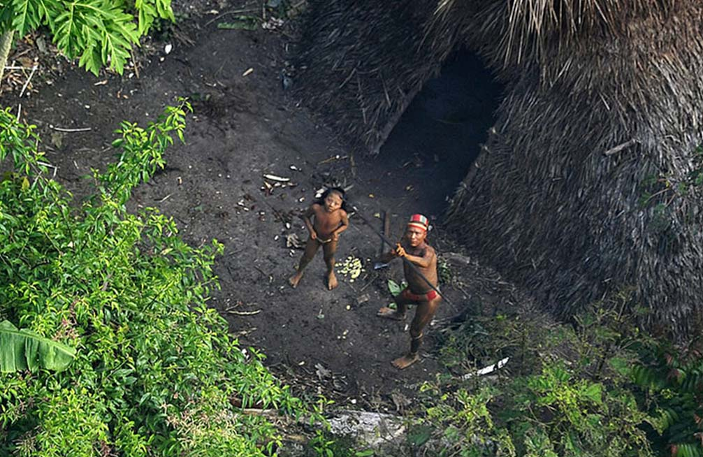 una tribu no contactada en la jungla de Brasil