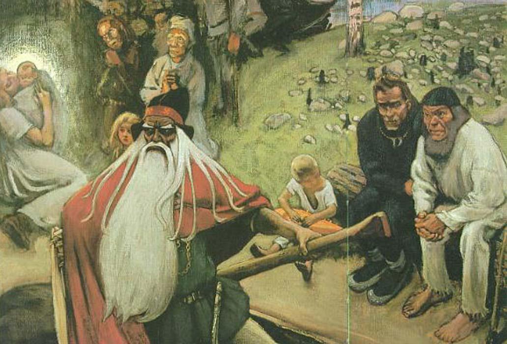 Akseli Gallen-Kallela: La salida de Väinämöinen (dominio público)
