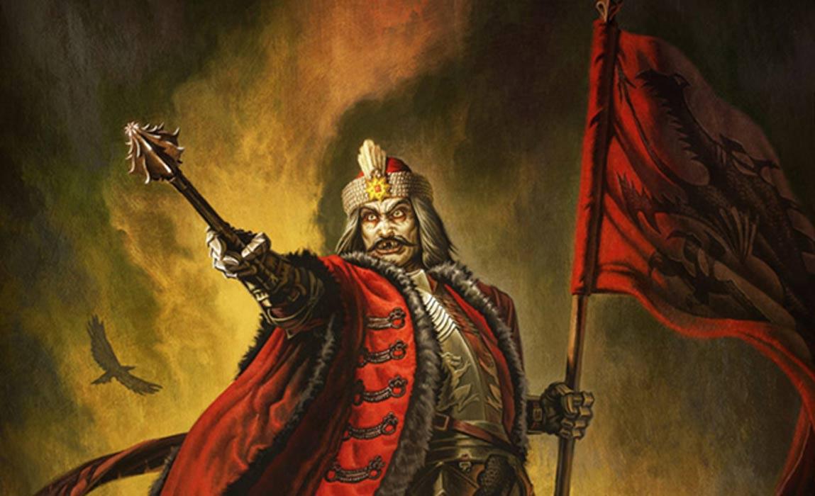 Representación de un artista de Vlad el Empalador como Drácula.