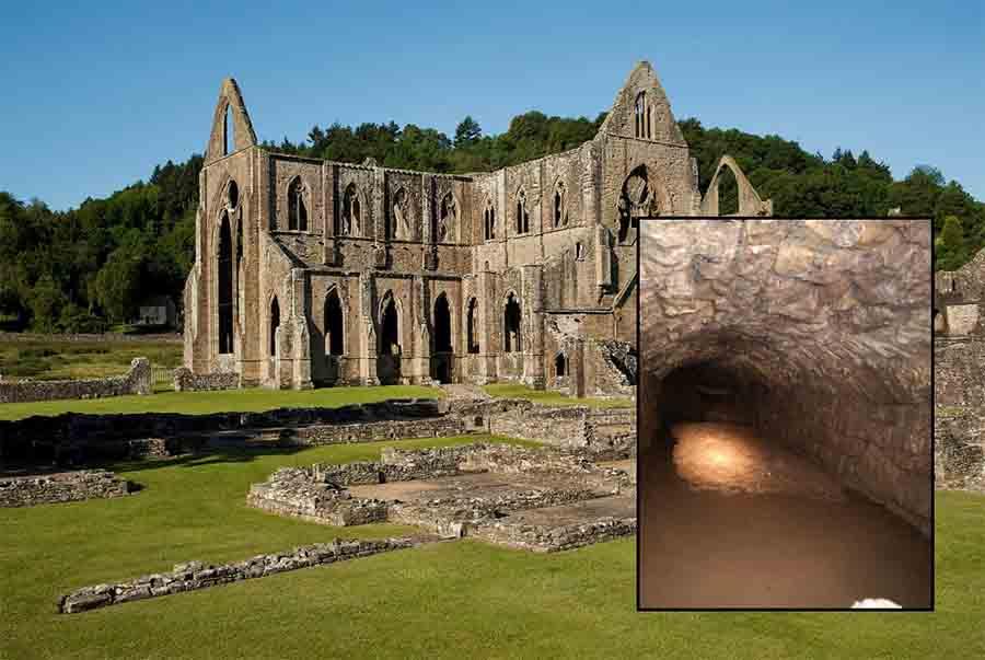 La abadía de Tintern, fundada el 9 de mayo de 1131, es la ubicación de los túneles de la abadía galesa recientemente descubiertos.