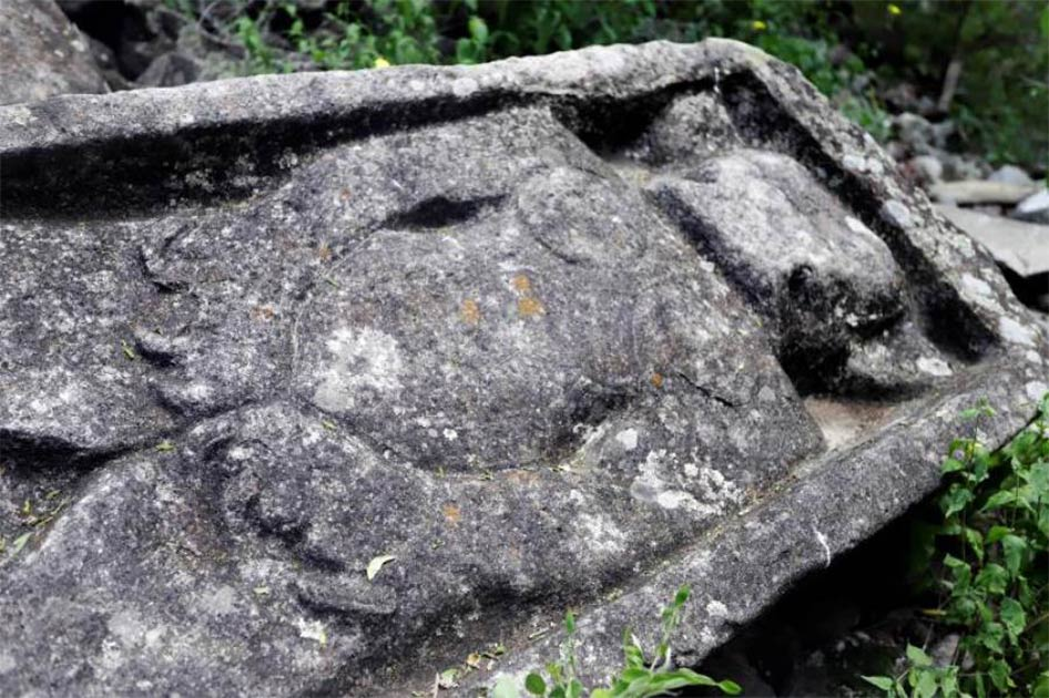 Un monumento encontrado entre las ruinas zapotecas del suroeste de México. Fuente: EFE