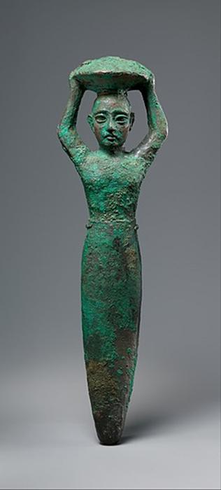 Figura de la fundación del rey Shulgi de Ur, portando una cesta. (CC0)