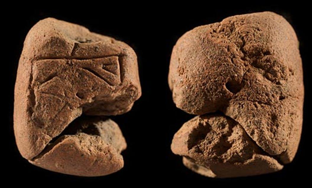 Vistas frontal y dorsal de la segunda figurita descubierta en las Orcadas. Los arqueólogos especulan con la posibilidad de que fuesen utilizadas como fetiches para propiciar la fertilidad o como pequeños ídolos a través de los cuales se canalizaba la adoración a alguna divinidad. (foto: Historic Scotland)