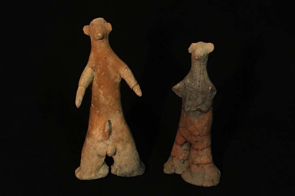 Figuritas de fertilidad halladas en Schroda, Sudáfrica. Museo Nacional Ditsong de Historia Cultural, fotografía aportada por el autor.