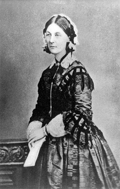 Florence Nightingale retratada durante la Guerra de Crimea, Rusia, circa 1855. (Dominio público)