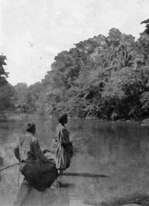 Fotografía del pueblo Tsimane tomada durante la expedición de 1913 a 1914 al río Maniqui en el noreste de Bolivia. (Dominio publico)