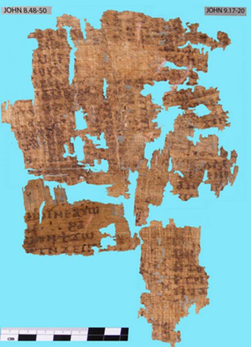 Fragmento del evangelio de san juan. (Benjamin G. Wright)