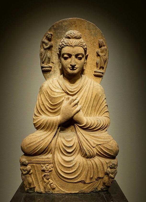 Escultura budista de Gandhara encontrada en el noroeste de Pakistán. (Daderot / Dominio público)