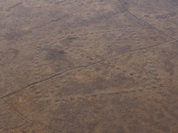 Se cree que estos geogifos tienen entre 3.000 y 7.000 años de antigüedad. Imagen: Google Earth -Google Earth/discovery.turgay.kz