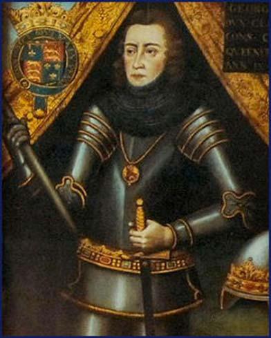 George Plantagenet, duque de Clarence. A la derecha - Escudo de armas de George Plantagenet, 1er Duque de Clarence. Fuente: izquierda, dominio público.