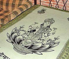 Large Laxshmi Tapestry / Bedspread / Wall Décor