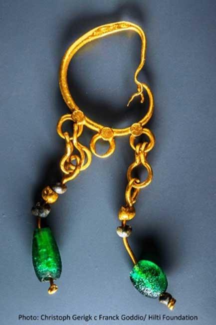 Joyas de oro encontradas en el sitio de los fondos marinos. (Christoph Gerigk - Frank Goddio / Fundación Hilti / Autoridad de Antigüedades de Egipto)