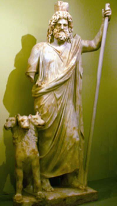 Hades: dios del inframundo con Cerbero. (DIEGO73 / CC BY-SA 3.0)