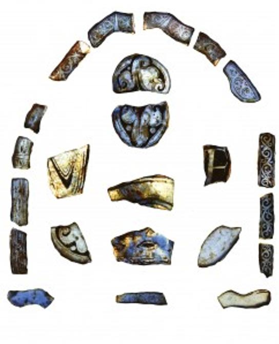 Hallazgos arqueológicos procedentes de la abadía de Glastonbury. Imagen: Universidad de Reading