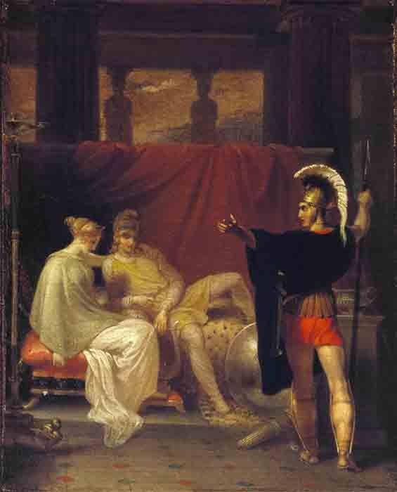 Héctor se burló de su hermano Paris por su cobardía y lo convenció de pelear un duelo con Menelao con la esperanza de que la guerra finalmente llegara a su fin. (Biblioteca Folger Shakespeare / CC BY-SA 4.0)