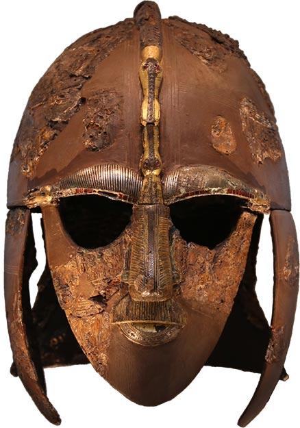 El casco anglosajón es uno de los hallazgos más importantes de Sutton Hoo. (Nombre de usuariounique / CC BY-SA 4.0)