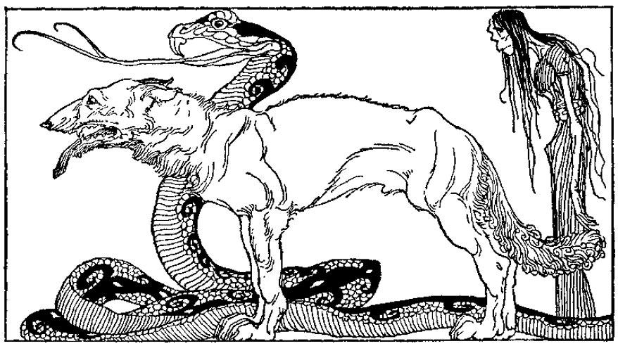"""""""Los hijos de Loki"""" (1920) ilustración de Willy Pogany. (Public Domain)"""