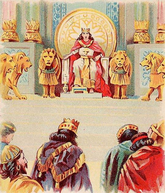 La historicidad de la mayoría de las figuras bíblicas, incluido el Rey Salomón visto aquí, es un tema de debate candente dentro de la arqueología bíblica. (Dominio público)