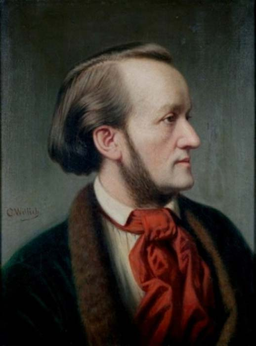 Retrato de Richard Wagner, circa 1862, por Cäsar Willich. (Dominio publico)