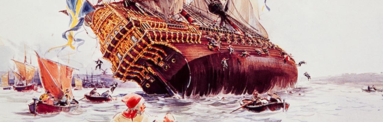 El hundimiento del Vasa. (Imagen original)