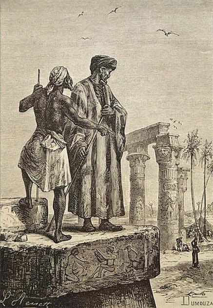 Ibn Battuta en Egipto. (Dominio publico)