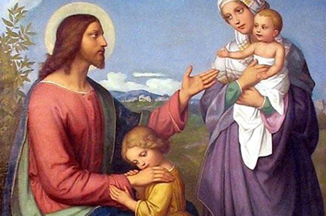 'Jesús, amigo de los niños' (1845), obra de Marie Ellenrieder (Wikimedia)