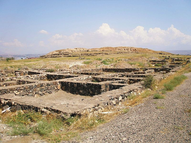 Restos de la antigua ciudad recién descubierta en Karmir Blur, Armenia (Wikimedia Commons)
