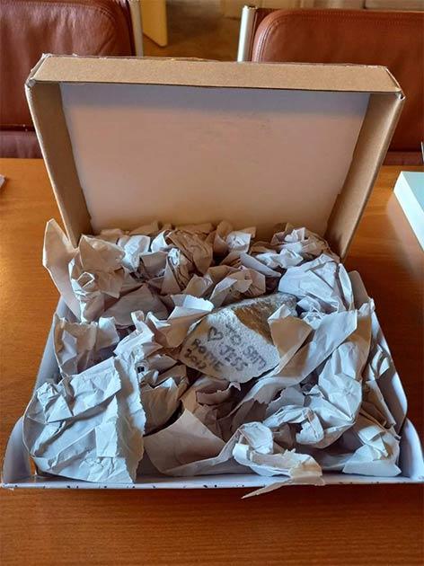 El fragmento de mármol romano robado. (Museo Nazionale Romano)