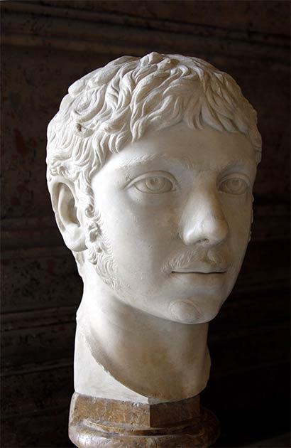 Un antiguo busto de mármol de Elagabalus que forma parte de la colección de los Museos Capitolinos de Roma. (© José Luiz Bernardes Ribeiro)