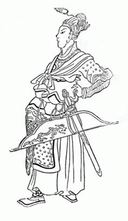 Dibujo chino medieval del joven Batu Khan (siglo XIV). (Dominio publico)