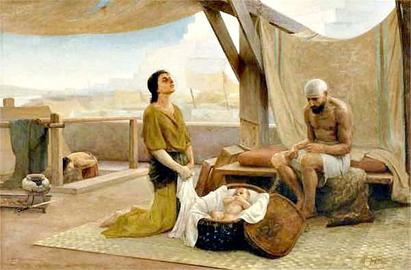 Los padres de Moisés. Óleo. Isaac Askenaziy, Rusia, 1891. (Wikimedia Commons)