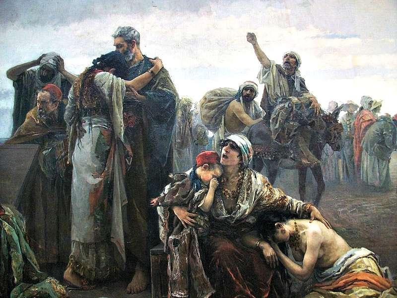 La expulsión de los moriscos (1894), obra de Gabriel Puig Roda. Museo de Bellas Artes de Castellón. (Wikimedia Commons)