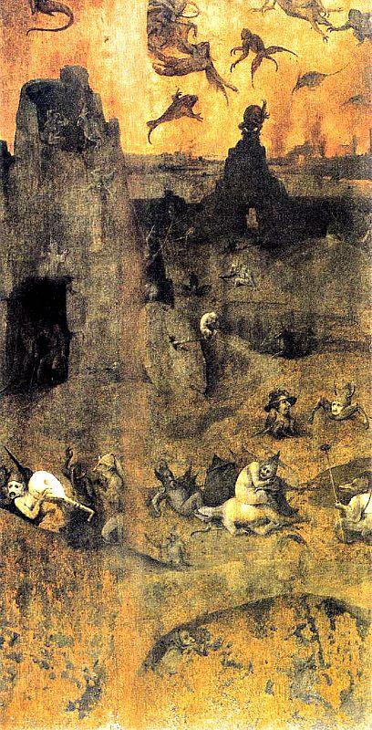 """""""La caída de los ángeles rebeldes"""", obra de El Bosco, está basada en Génesis 6:1–4 (Wikimedia Commons)"""